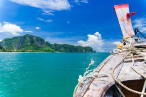 boat floating on the Andaman Sea