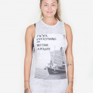Sleeveless Pirate Tee (White)