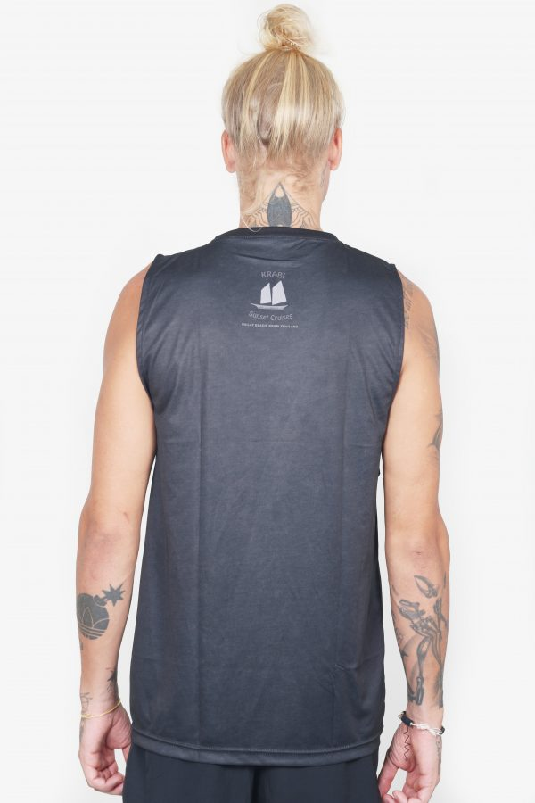 Sleeveless Pirate Tee (Black, Back)