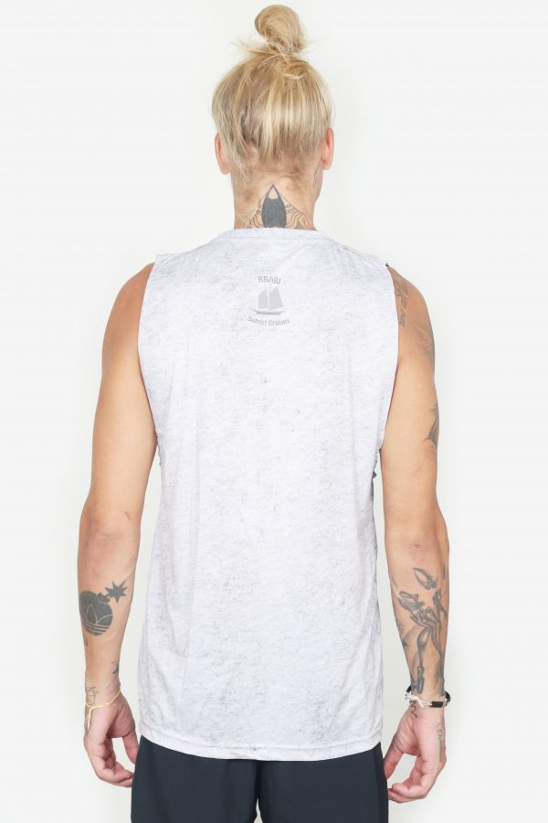 Sleeveless Pirate Tee (White, Back)